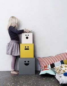 Face Storage Boxes | Kids' Furniture That Really Should Come In Adult Sizes
