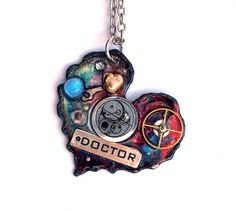 "Doctor Who Necklace ""The Heart of the Cosmos""  by TimeMachineJewelry"