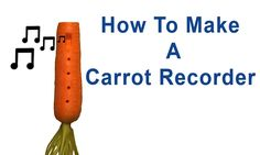 How to make a recorder / ocarina out of a carrot. This how to video tutorial gives you step by step instructions for making a vegetable musical instrument. I...