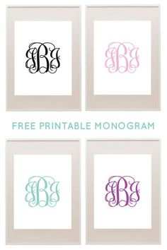 Make your own monograms with our free monogram templates. Use the templates to make monogram wall art or monogram binder covers. Monogram Template, Free Monogram, Monogram Fonts, Monogram Maker, Cricut Monogram, Free Printable Monogram Letters, Embroidery Monogram, Embroidery Designs, Wedding Embroidery