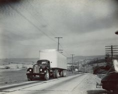 International KR-12 with Semi-Trailer | Photograph | Wisconsin Historical Society