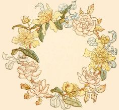 Reading, Roses & Proses: Flower Frame plus floral Illustrations by Kate Greenaway