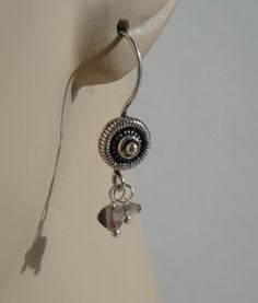 Smokey Quartz and Labradorite Earrings Gemstone by ForestBeads, $29.99