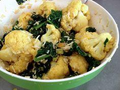 My version of Trader Joe's kale & cauliflower curry salad