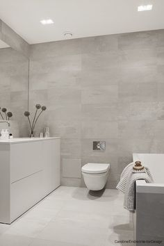 Beige and white bathroom