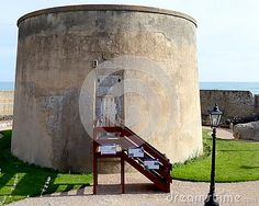A view of Wish tower, an old defensive  tower from the Napoleonic wars.