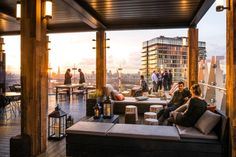 An expert guide to the best rooftop bars in London, including high-rise hotel watering holes complete with swimming pools, edgy East End outfits, and slick City establishments with skyline views