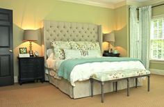 Complete master bedroom design by New South Design in Charlotte, NC