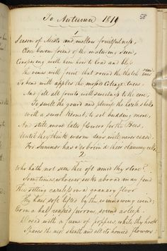 Manuscript of 'To Autumn' by John Keats - The British Library Shop