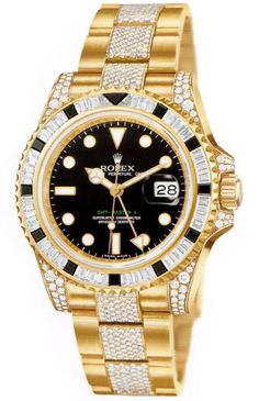 Rolex GMT-Master II Ill take him and hers matching. Mens Watches For Sale, Luxury Watches For Men, Brm Watches, Home Luxury, Gold Chains For Men, Rolex Gmt Master, Expensive Watches, Rolex Oyster Perpetual, Stylish Watches