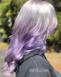 Silver to Purple Reverse Ombre