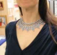 Cinderella necklace needle tatting kit and pattern