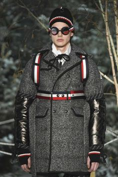 Moncler Gamme Bleu, Automne/Hiver 2017, Milan, Menswear Moncler, Milan, Punk, Collection, Style, Fashion, Lineup, Fall Winter, Blue