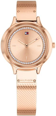 29143e08 Tommy Hilfiger Women Olivia Rose Gold-Tone Bangle Bracelet Watch 32mm Tommy  Hilfiger Watches,