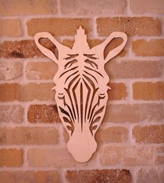 Zebra Wall Art by Vinca available at Scoutmob now. The place to get inspired goods by local makers. Scroll Saw Patterns, Wood Patterns, Woodworking Art Ideas, Plasma Cutter Art, Laser Art, Intarsia Woodworking, Metal Artwork, Handmade Decorations, Wall Decorations