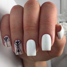 Nail Polish Trends, Nail Design & Art Ideas and Manicure Gelish Nails, Manicure And Pedicure, Manicures, Cute Spring Nails, Cute Nails, Nail Designs Spring, Cute Nail Designs, Lilac Nails With Glitter, Acrylic Nail Designs