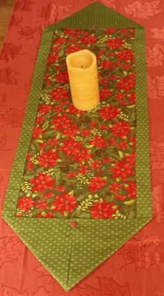 Christmas Poinsettia Holiday Table Runner 14 x 40 inch gifts Quilted Table Runners Christmas, Christmas Runner, Table Runner And Placemats, Table Runner Pattern, Christmas Poinsettia, Etsy Christmas, Handmade Christmas, Christmas Crafts, Christmas Table Decorations