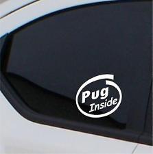 2x Pug  Inside stickers car decal