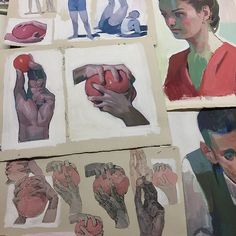 Some studies on paper of murals I did this year... #gouache #aryz