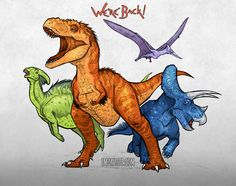 We're Back! A Dinosaur's Story by EmilyStepp.deviantart.com on @DeviantArt realistic versions!