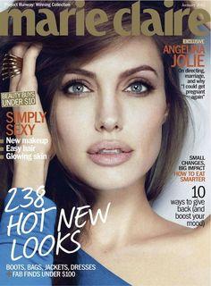 Angelina Jolie; US Marie Claire, January 2012
