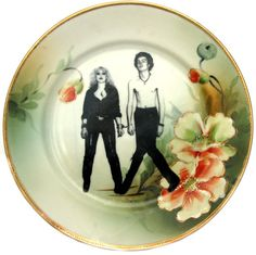 Sid & Nancy altered antique plate