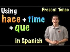¡Hola! In this video lesson we're looking at the phrase: hace + [time period] + que. We can use it with the present tense to talk about how long something ha...