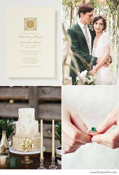 Inspiration: Gilded Gold & Green