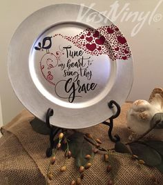 Decorative Charger Plate Tune My Heart to Sing Thy by VastVinyl