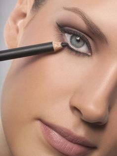 Use a pencil eyeliner to highlight your eyes.