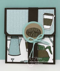 Stampin' Up! Coffee Cafe, BJ Peters, Gift Card Holder Coffee Break