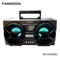 4 inch Double bass horn active digital portable speaker with light Double Bass, Horn, Bluetooth, Technology, Digital, Tech, Horns, Tecnologia, Bass