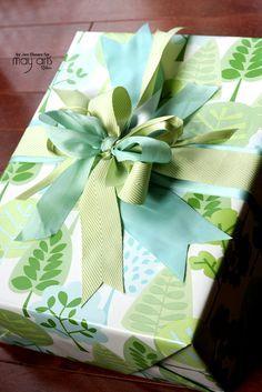 Gift Wrapping: Layering Ribbons