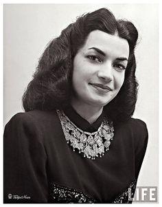 H.H. Princess Ashraf Pahlavi of Iran In 1947...............http://www.pinterest.com/madamepiggymick/arab-royalty-iran/