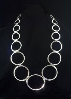 Sterling Jewelry Store - Sterling Silver Circle Necklace 30
