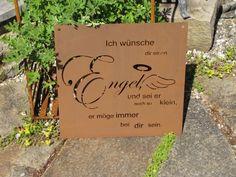 1000 images about edelrost spruchtafeln on pinterest for Gartendeko engel rost