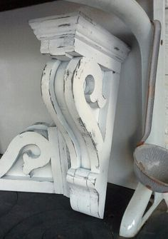 H Corbels set of 2 Vintage look new and by TheWeatheredWoodshop