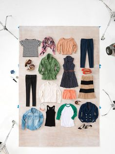 Capsule wardrobe by Lucky Magazine