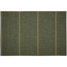 Inlet Green Stripe Indoor/Outdoor Area Rug