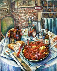 Louisiana Saturday Night Painting - Louisiana Saturday Night Fine Art Print - Dianne Parks