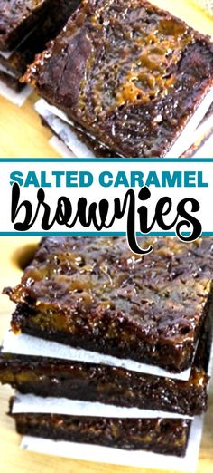 Salted Caramel Brownies are rich and chewy made with cocoa and and gooey caramels! These are a real treat and not to be missed! Salted Caramel Brownies are rich and chewy made with cocoa and and gooey caramels! These are a real treat and not to be missed! Hot Fudge Cake, Hot Chocolate Fudge, Baking Chocolate, Chocolate Desserts, Trifle Desserts, Easy Desserts, Delicious Desserts, Dessert Recipes, Bar Recipes