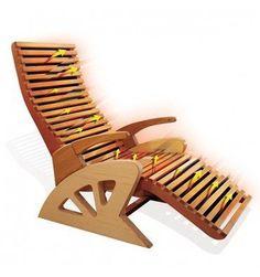 Infrarot Holzliege-Stuhl