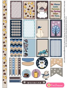 Free Printable Winter Sticker Sampler Kit for Happy Planner