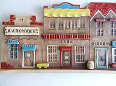 Hey, I found this really awesome Etsy listing at https://www.etsy.com/listing/184284962/clay-houses-wall-hanging-ceramic-house