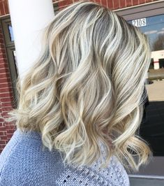 Light Blonde Balayage with dirty blonde shadow root