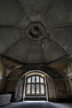 Huge domed ceiling in an abandoned Manor House