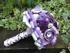 PuRpLe HaZe FaBrIc & BuTtOn BoUqUeT by whispergrey01 on Etsy, £65.00