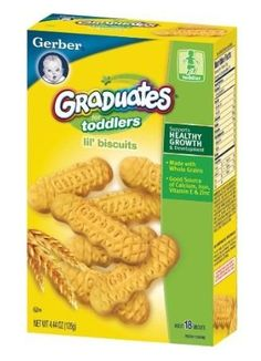 Gerber Graduates Biter Biscuits, 4.44-Ounce (Pack of 4).