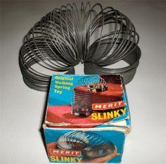 Original Merit Slinky - Vintage Boxed Metal Toy. Early 1970's |