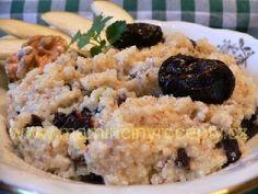 Vařené jáhly se švestkami Grains, Rice, Food, Meal, Eten, Meals, Jim Rice, Korn, Brass